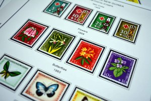 COLOR PRINTED DUTCH NEW GUINEA 1950-1963 STAMP ALBUM PAGES (7 illustrated pages)