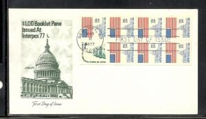 US #1623Bc Flag Over Capital Booklet Pane Artmaster cachet U/A fdc