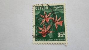 STAMP OF CEYLON USED HINGED SC # 314