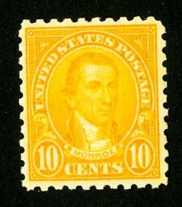 US Stamps # 591 XF OG NH P.O. Fresh