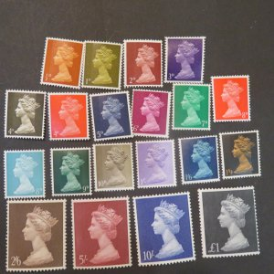 Great Britain MH 1-21 first set of Michins Sterling 1967-1968 Cv..15.45