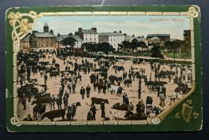 1914 Eyre Square Co Galway Ireland to Massachusetts Real Picture Postcard Cover