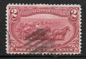USA 286: 2c Trans-Mississippi Exposition, Used, VF+