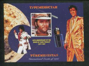 Turkmenistan Commemorative Souvenir Stamp Sheet - Elvis Presley Anniversary