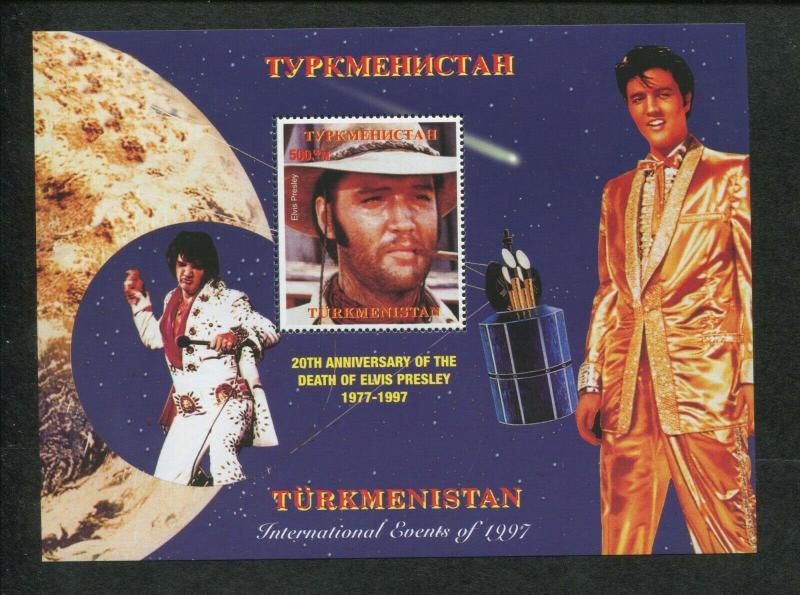 Turkmenistan Commemorative Souvenir Stamp Sheet - Elvis Presley Anniversary