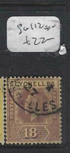 SEYCHELLES  (PP2905B)  KGV  18C     SG 112      VFU