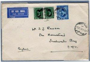 EGYPT Cover Air Mail Port Said ADVERT CACHET GB 1934{samwells-covers}EP402
