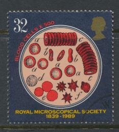 Great Britain SG 1455  Used   - Microscopial Society