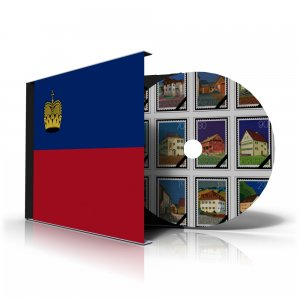 LIECHTENSTEIN STAMP ALBUM PAGES 1912-2011 (172 color illustrated pages)