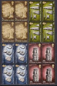 PITCAIRN 1971 Artifacts set fine used blocks of 4..........................55257