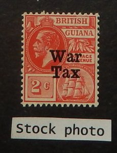 British Guiana MR1. 1918 2c Scarlet War Tax, NH