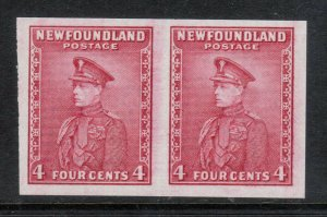 Newfoundland #189c Extra Fine Imperf Proof Pair On Watermark Paper