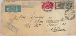 65189 - LIBYA Libia Italiana - POSTAL HISTORY -  REGISTERED COVER to ITALY 1937