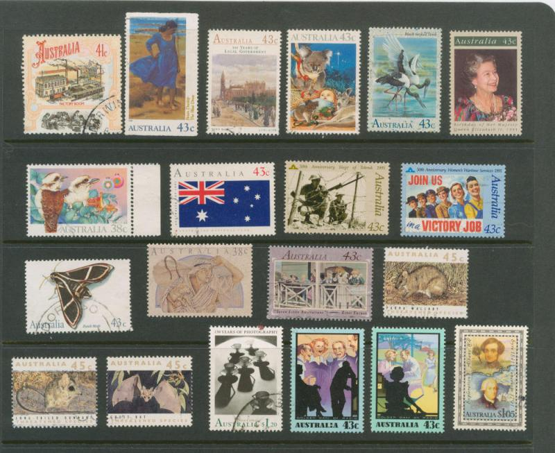 Australia 1990-91 selection of 20 stamps VFU