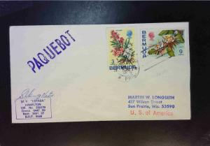 Bermuda 1979 Paquebot Cover / Master SIgned / Phil USA Cancel - Z1867