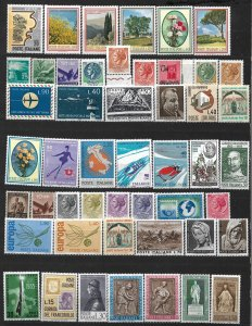 COLLECTION LOT OF # 822 ITALY 48 MH STAMPS 1945+