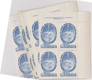 Canada USC #354 Mint 25 Plate Blocks - UN ICAO - VF-NH Cat. $68.75