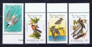 Barbuda 701-04 Never Hinged 1985 Birds set