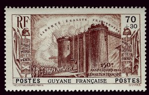 French Guiana Sc B5 VF Mint OG hr..French Colonies are Hot!
