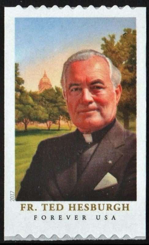 SC#5242 (49¢) Father Theodore Hesburgh Coil Single (2017) SA
