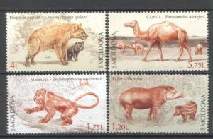 Moldova 2016 Fauna Extinct Animals of Moldova 4 MNH Stamps