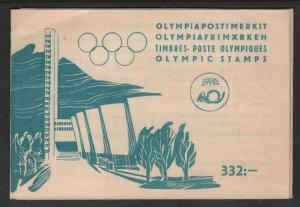 Finland 1951 Olympics booklet Sc# B113 NH