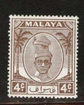 MALAYA Perak Scott 108 MH* stamp from 1950
