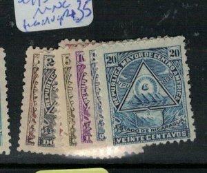 Nicaragua SC 99-104 MNG (some are MOG) (2emr)