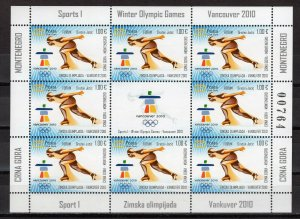 MONTENEGRO - 2010 Winter Olympic Games - Vancouver, Canada   M1577