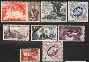 Monaco #354-62 M/NH 45% of SCV $20.00 **FREE SHIPPING**