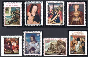 BURKINO FASO C42-C49 MNH SCV $12.75 BIN $7.65 RELIGION