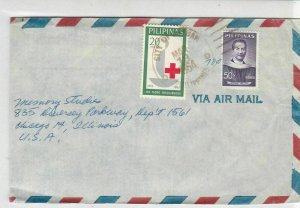 Philippines 1964 City of Butuan Cancel Airmail to USA 2x Stamps Cover Ref 25392