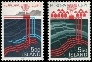 #573 - 574 - Iceland - 1983 - Europa Cept -  MNH  VF  superfleas  cv$25.50