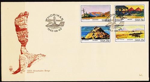 South West Africa. 1982 FDC. Mountains. Fine Used