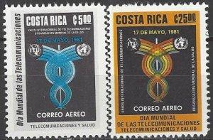Costa Rica  C833-4  MNH  ITU  International Telecommunications Day 1981
