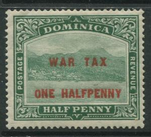 Dominica -Scott MR1 - War Tax Issue -1916 - MLH - Single 1/2p on a 1/2p Stamp