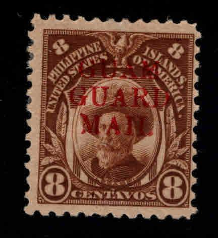 GUAM Scott M10 MH* Guard Mail stamp, hinge remnant