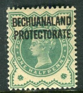 BECHUANALAND; 1897 early QV Optd. issue Mint hinged 1d. value