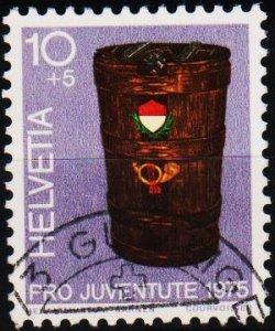 Switzerland. 1975 10c+5c. S.G.J249  Fine Used