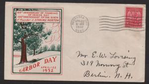 $US Sc#717 Arbor Day Loor cachet #1, FDC, Cv. $15