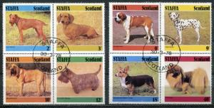 STAFFA (SCOTLAND) 1978 DOMESTIC DOGS SET OF 8 STAMPS COMPLETE!