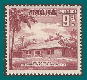 Nauru 1954 Meeting House, 9d MLH #44,SG53