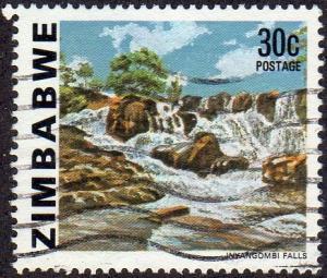 Zimbabwe 426 - Used - 30c Inyangombi Falls (1980) (cv $0.80)