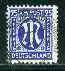 Germany AM Post Scott # 3N13, used