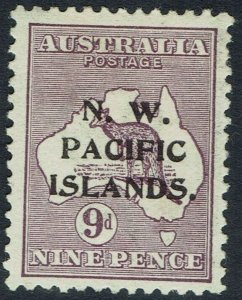 NWPI NEW GUINEA 1915 KANGAROO 9D 1ST WMK