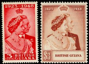 BRITISH GUIANA SG322-323, COMPLETE SET, NH MINT. Cat £22. RSW.