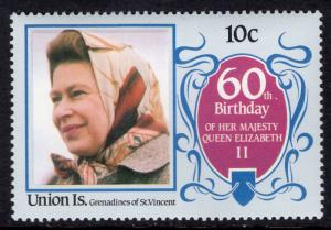 St Vincent Grenadines Union Island 213 Queen Elizabeth II MNH VF
