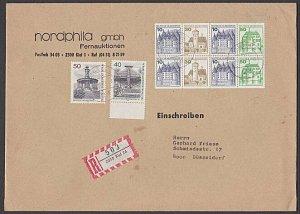 GERMANY 1981 Registered cover - booklet pane franking.......................B364