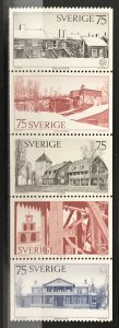 Sweden 1975 #1124-8 Booklet Pane, Unused/MH, CV $2.50
