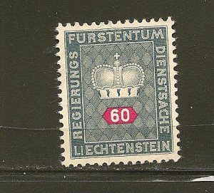 Liechtenstein O43 Official MNG